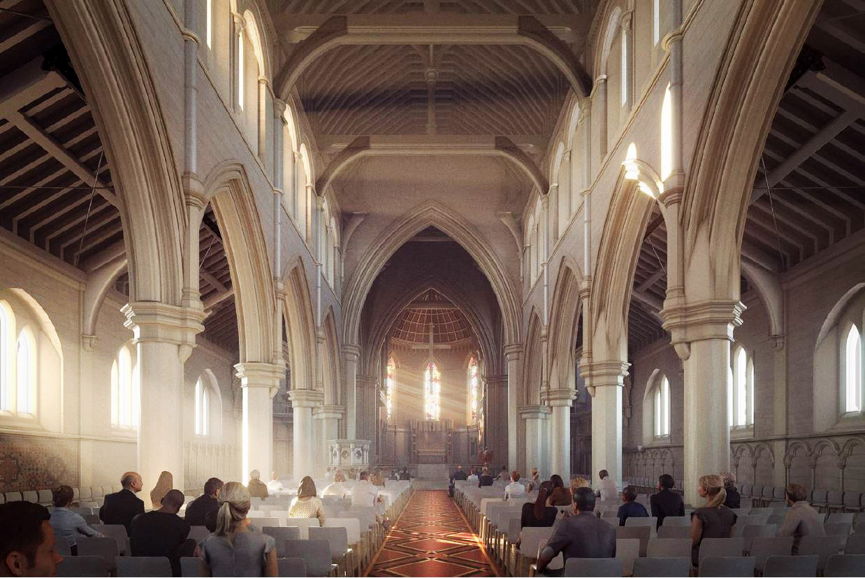 The inside of the Cathedral will have a more flexible seating arrangement and also modern...