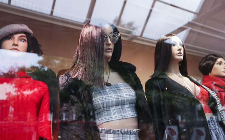 Mannequins at Glassons, one of the top ranking chains. Photo: RNZ