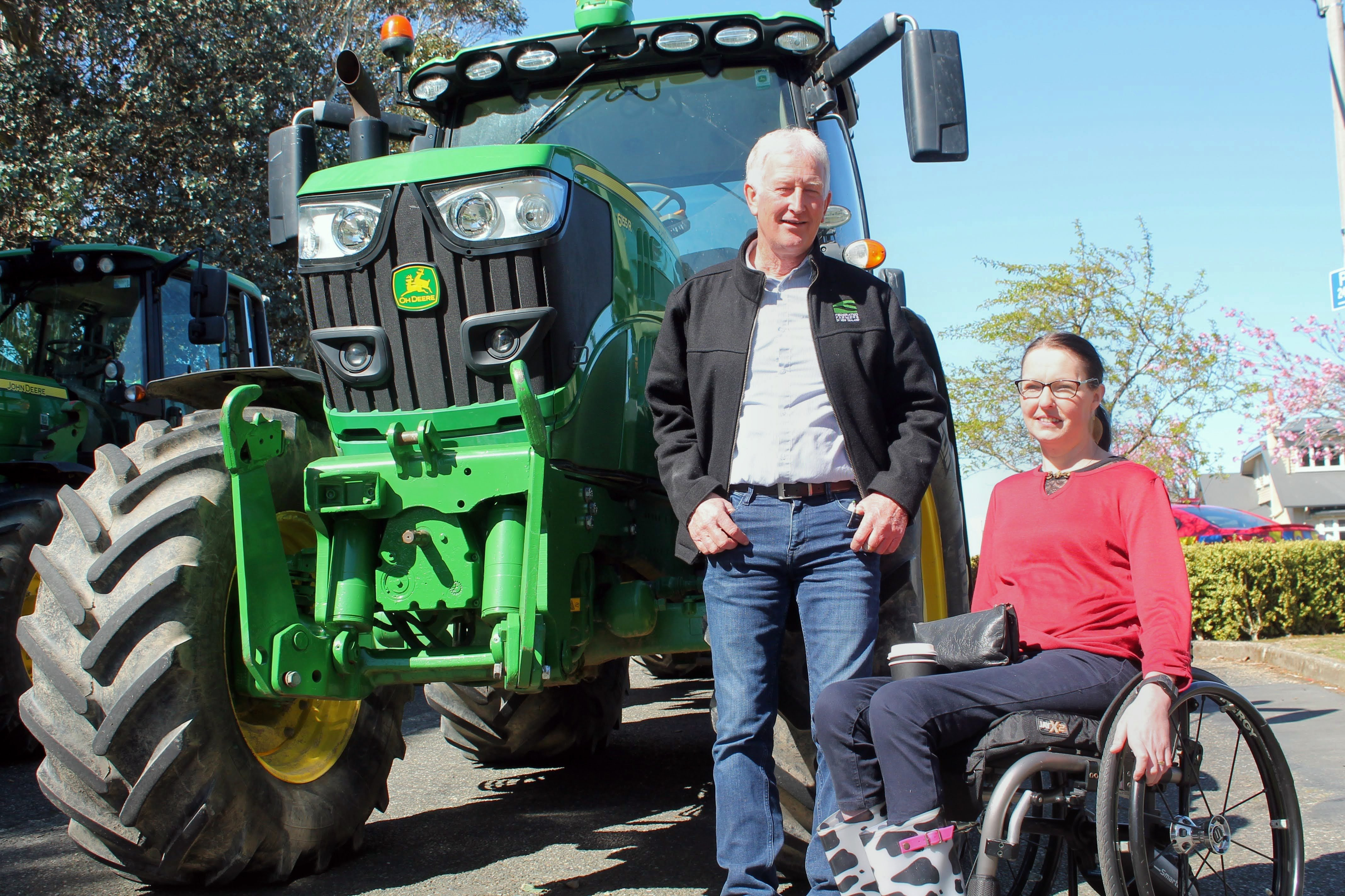 Southland Federated Farmers president Geoffrey Young and Southland Chamber of Commerce chief...