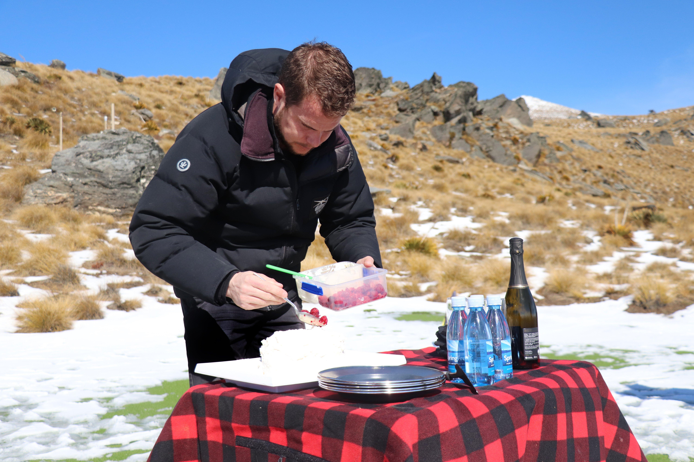 Captain Michael Clarke prepares the treats.