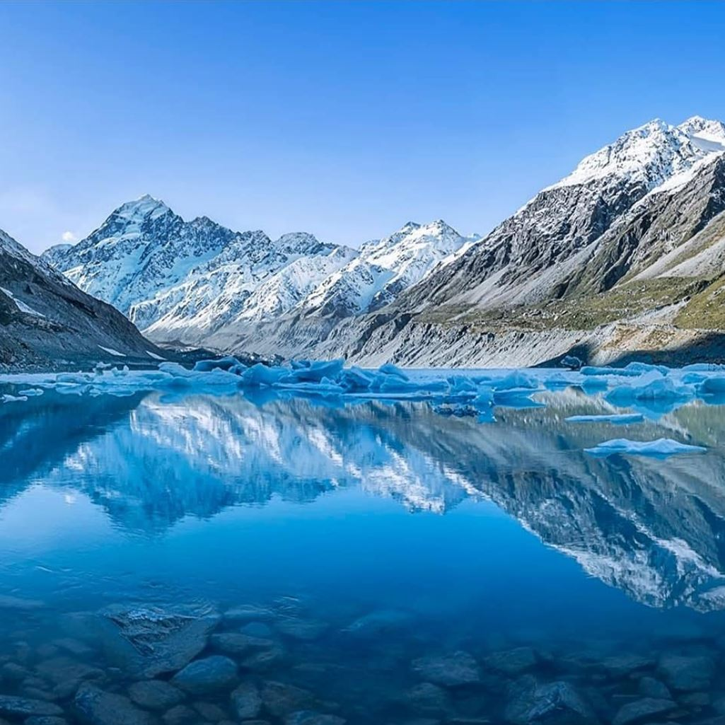 The winning photo, 'Hooker Lake', was taken by Darren Patterson, of Christchurch, at the end of...