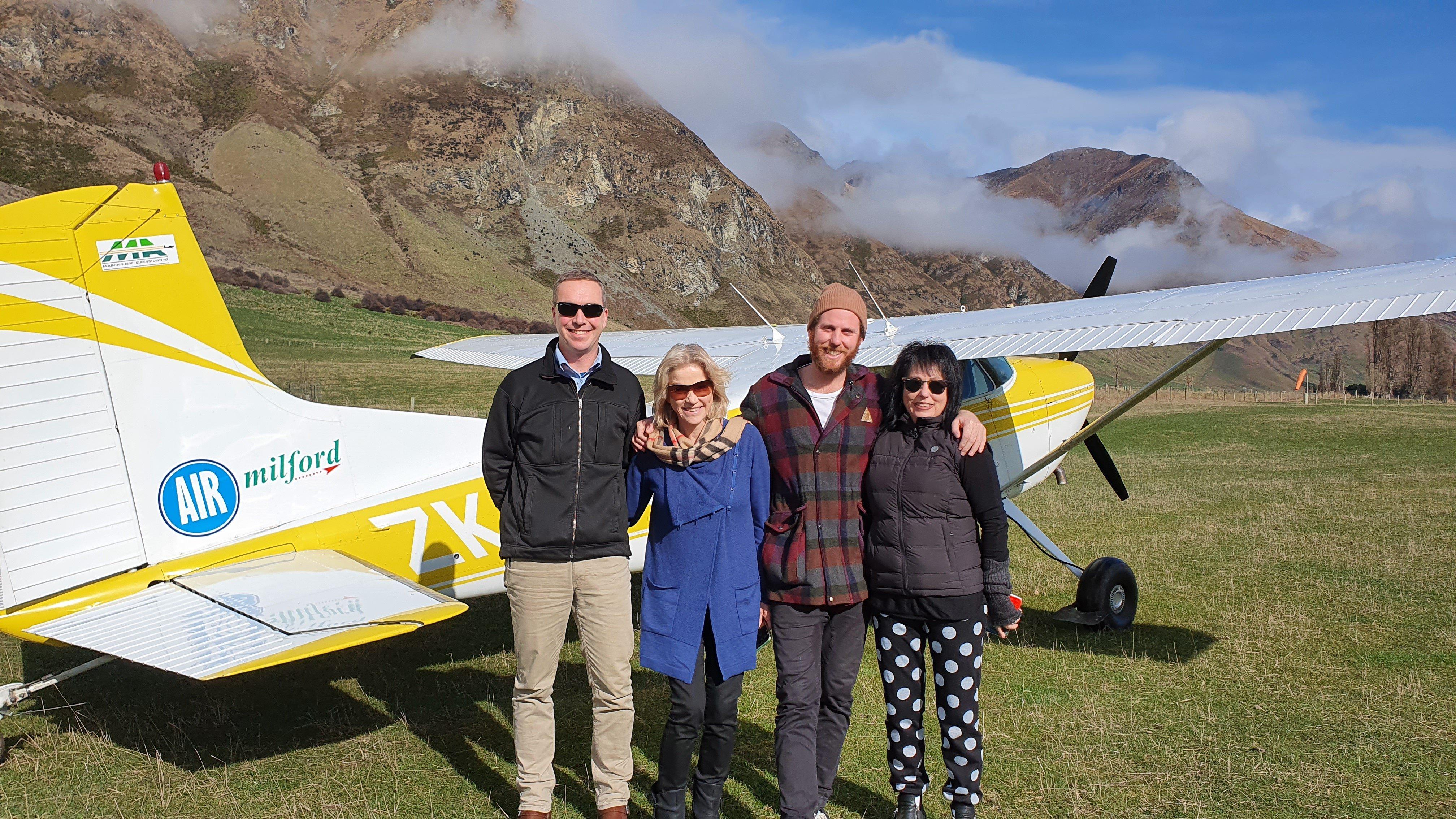 Pilot Thomas Watson, Claire Clarke, Joanna Hart, Dre Hart.