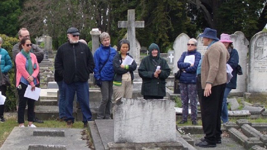 Join historian Richard Greenaway on a tour of historic grave sites. Photo: Newsline / CCC