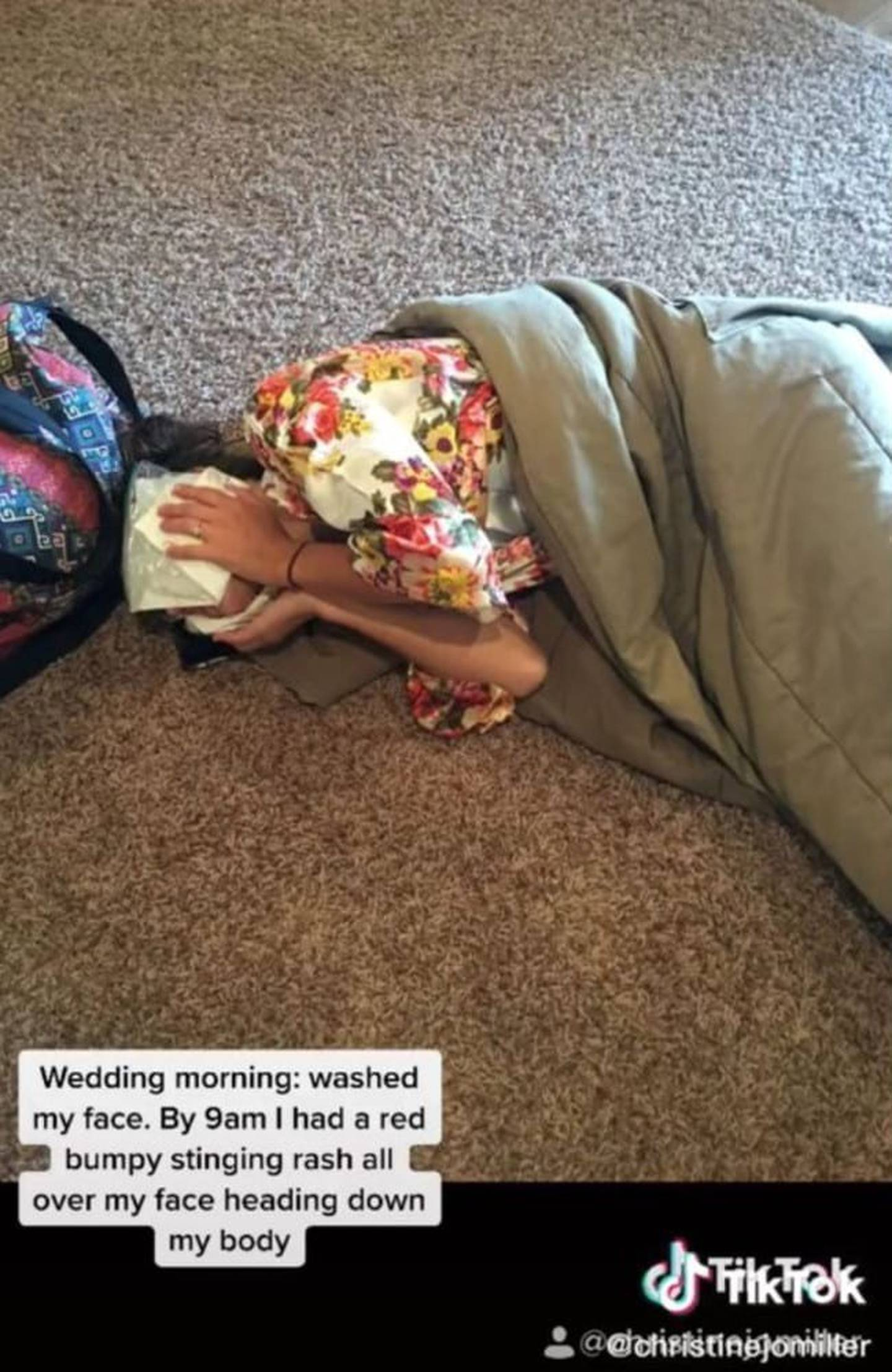She spent most of the reception hiding under a table so she wouldn't have to dance. Photo:...