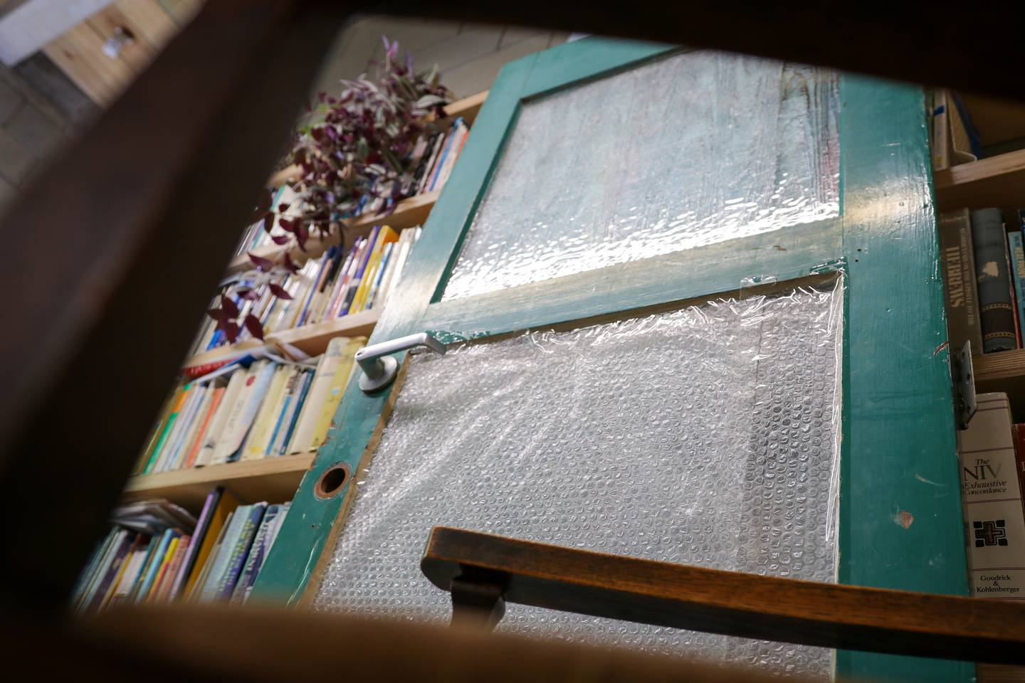 The front door on one of the units was wrapped in bubble wrap for insulation. Phot: Logan Church ...