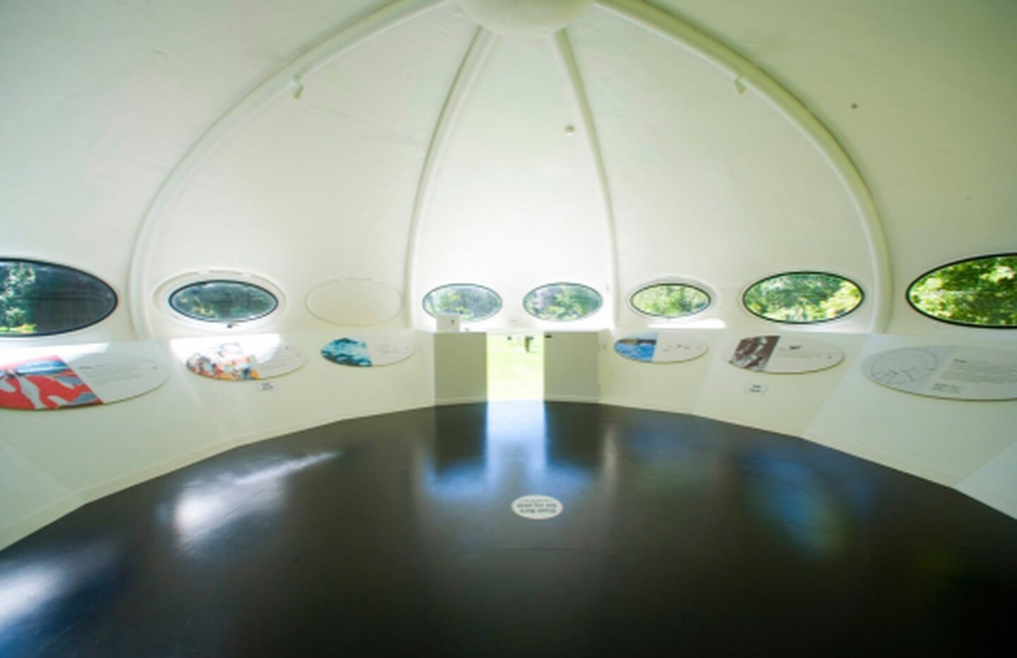The inside of the Futuro home. Photo: Supplied