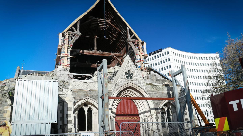 The damaged Christ Church Cathedral. Photo: Logan Church / NZH