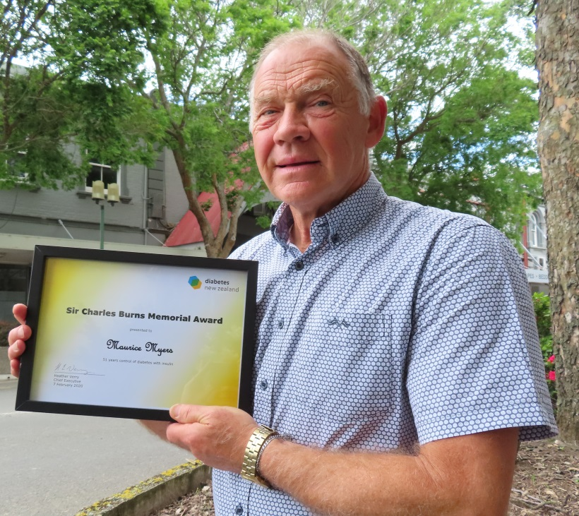 Maurice Myers has been managing his type 1 diabetes for more than 50 years. Photo: Ashburton Courier