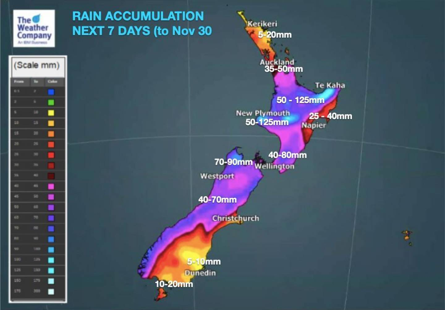 Parts of the country should brace itself for heavy rain this week. Source: WeatherWatch.co.nz