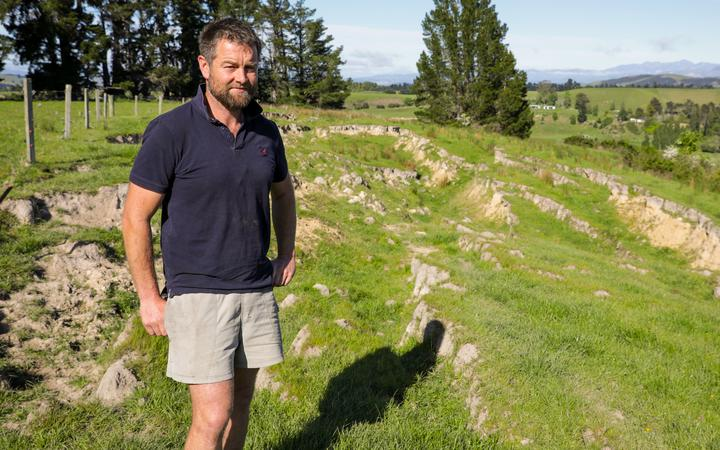 Henry Pinckney says the earthquake changed the landscape of his property significantly. Photo:...