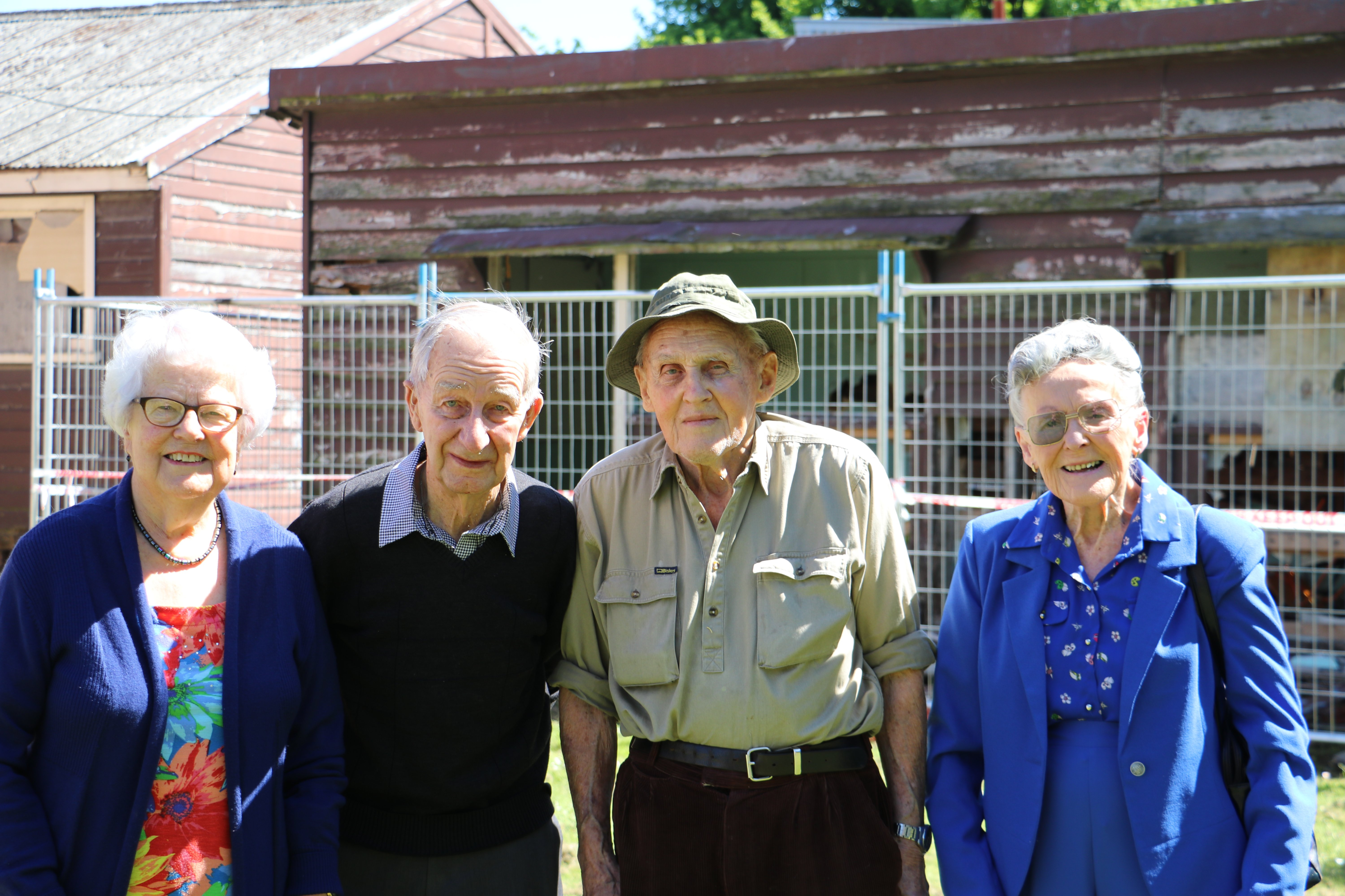 Former Gore High School pupils Dorothy Dodds, Ron Hargest, Wattie Gee and Barbara McRae took the...
