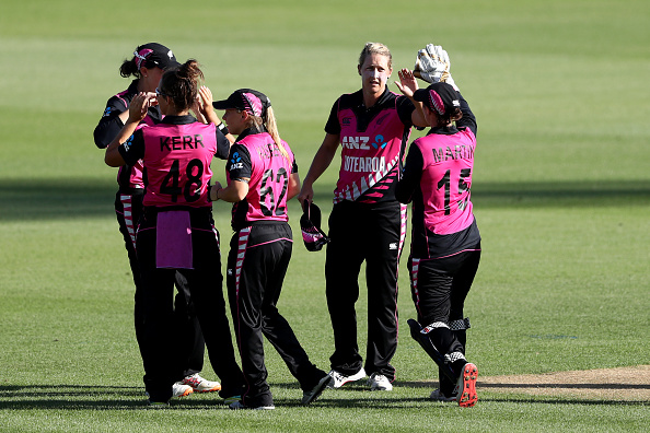 The White Ferns celebrate a wicket. Photo: Getty Images