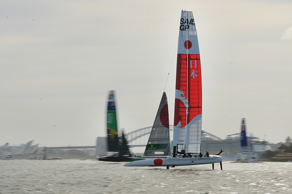 SailGP teams competing during the Sydney event earlier this year. Photo: Getty Images
