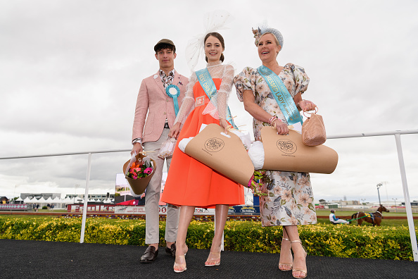 Best Dressed Man winner Dylan Booysens, Best Dressed Lady winner Laura Campbell and Best Dressed...