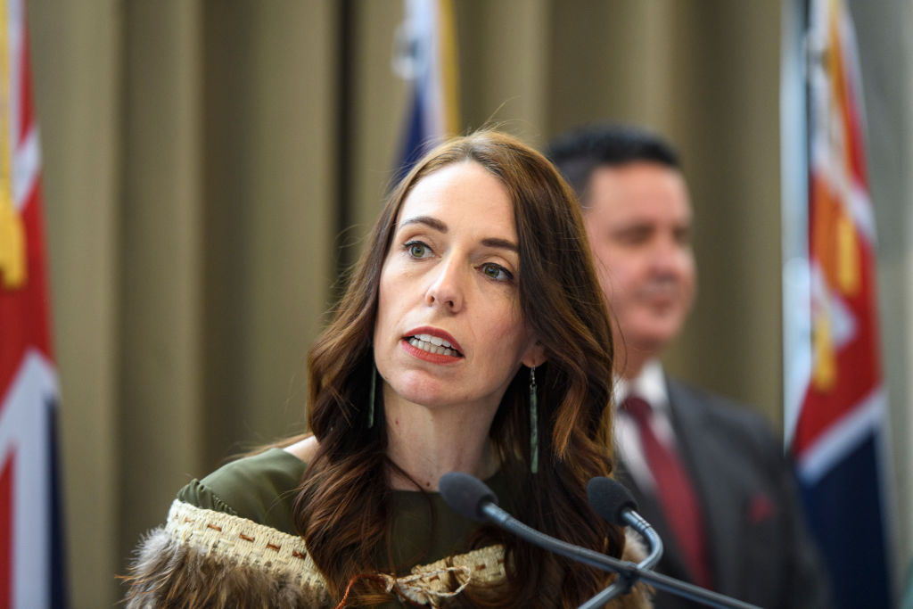Prime Minister Jacinda Ardern speaks at the Prime Minister's Reception during the opening of New...