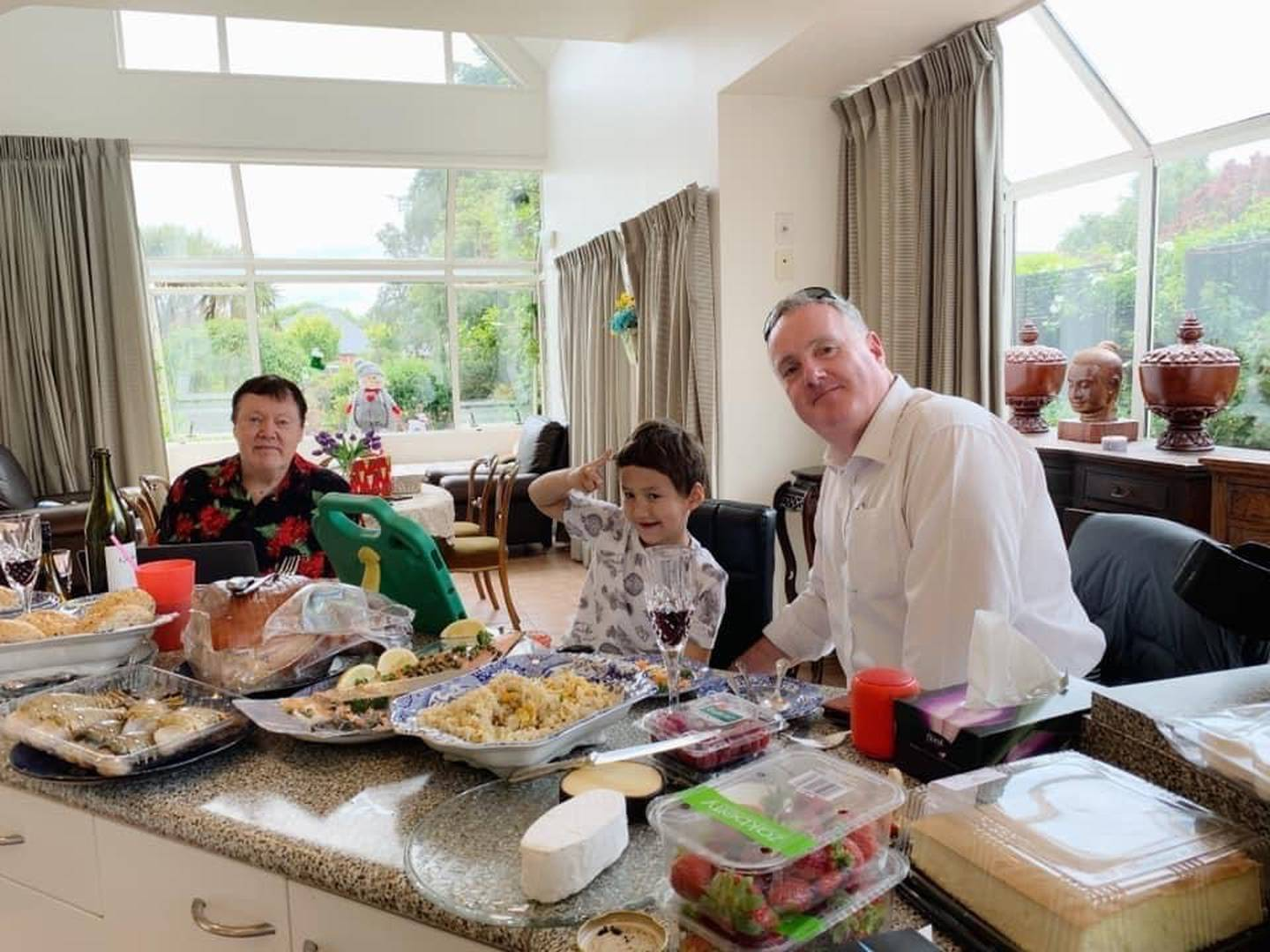 Jarrod O'Sullivan at Christmas lunch with family. Photo: Supplied