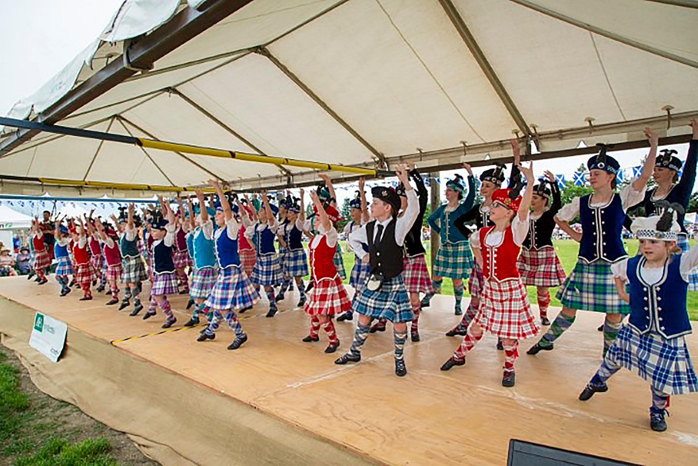 Young Highland dancers go through their routine at the Hororata Highland Games. Photo: Supplied