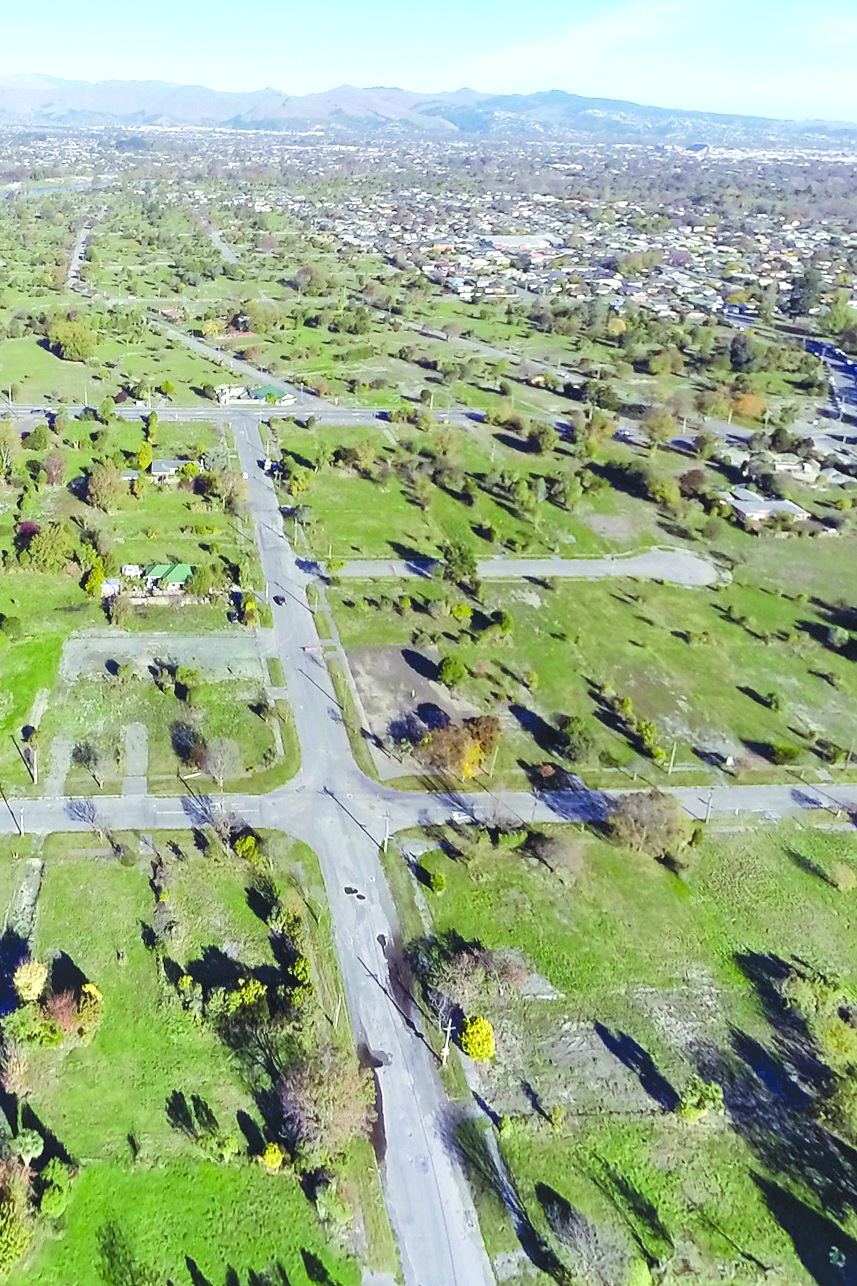 Part of the Christchurch red zone. Photo: File