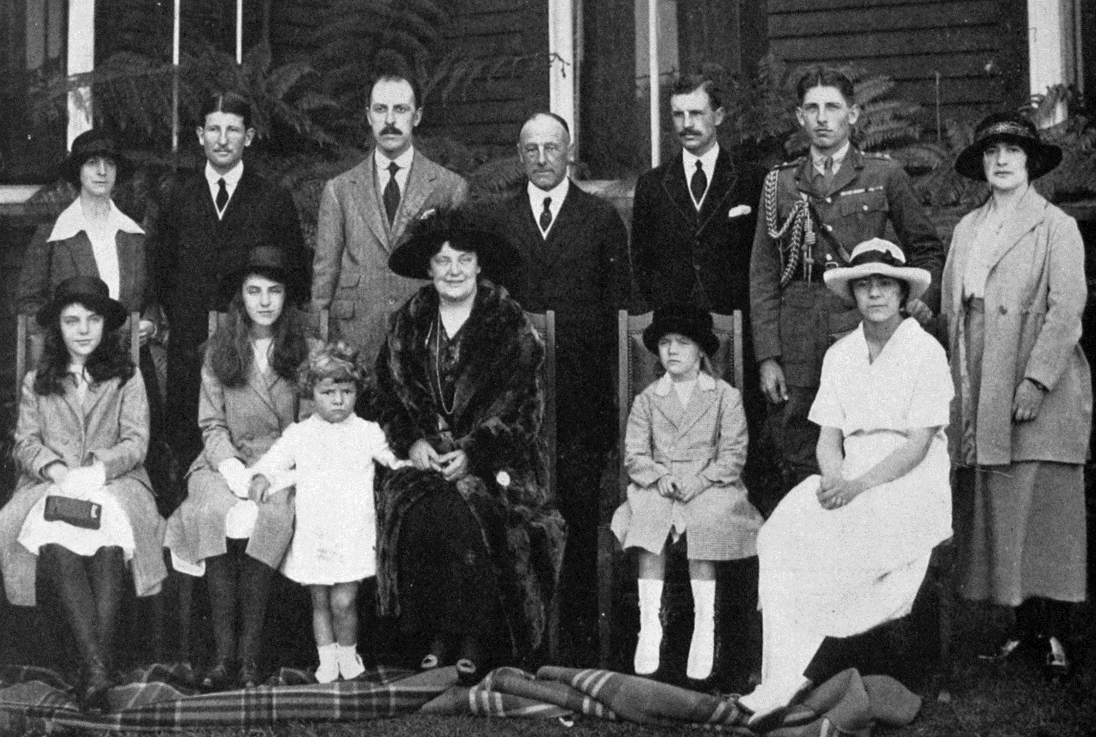 Family and staff of the new Governor-General. — Otago Witness, 16.11.1920.