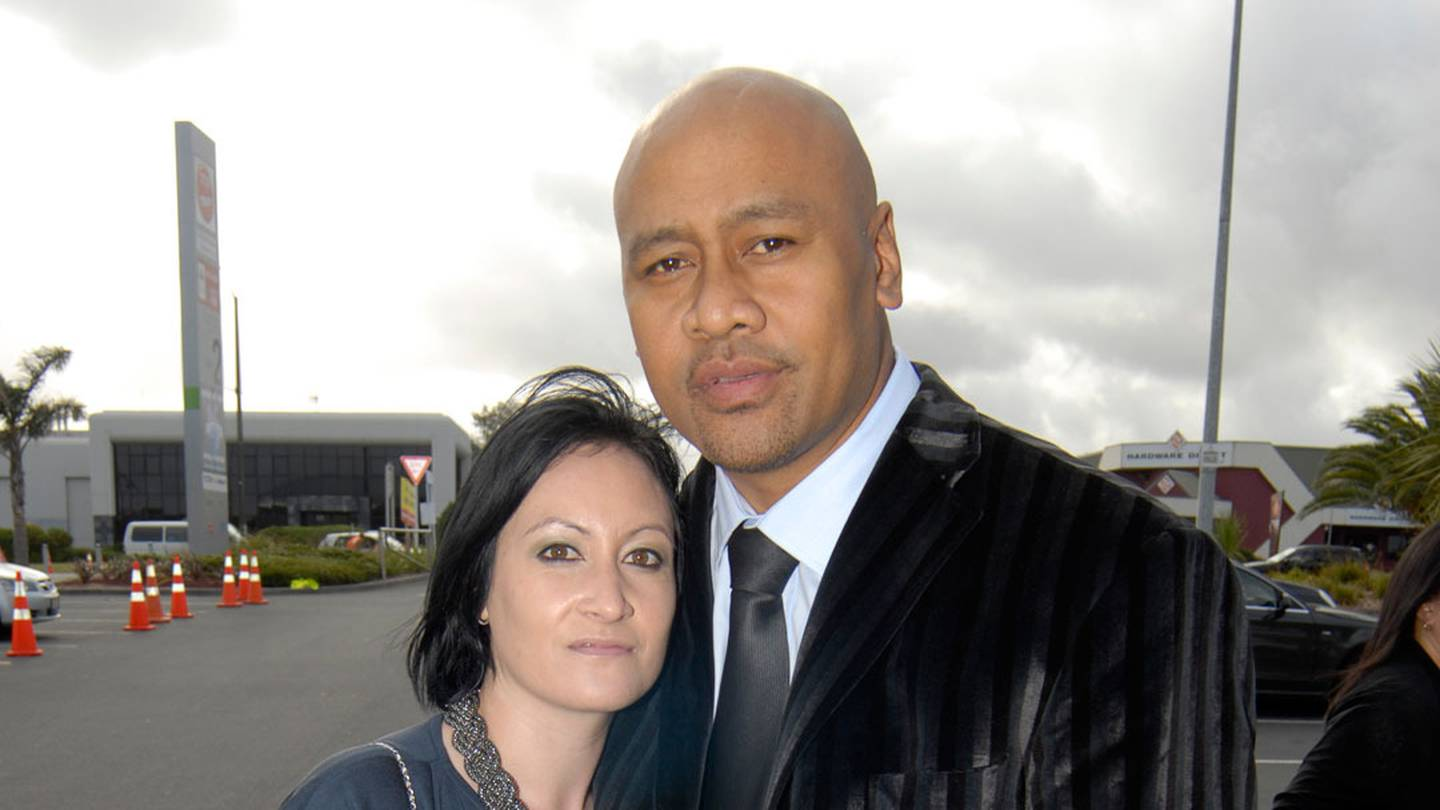 Jonah Lomu and wife Nadene in 2011. Photo: Michael Craig / NZH