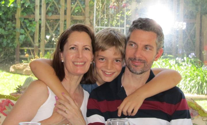 Hutt Valley High School teacher Cameron Conradie is apart from his wife Tanya and son Aidan. who...