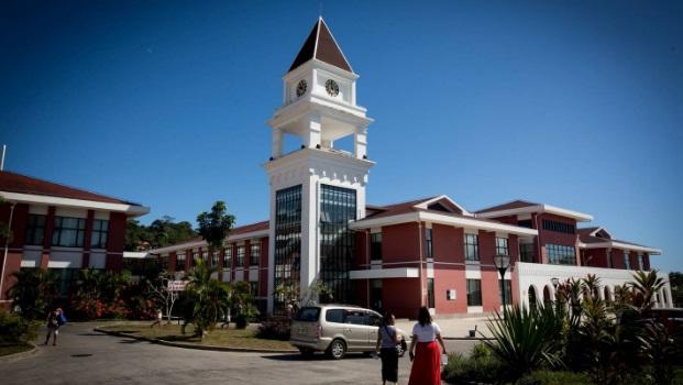 Samoa's two positive Covid-19 cases are isolation at the Tupua Tamasese Meaule Hospital near Apia...