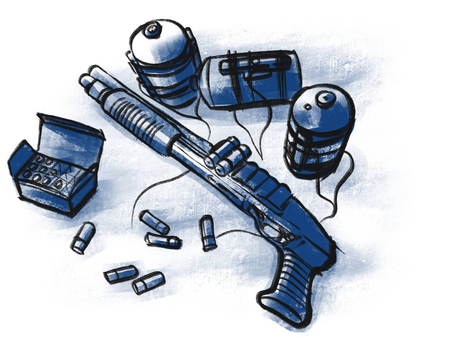The self-described 'terrorist' was armed with a pistol-grip shotgun and homemade bombs....