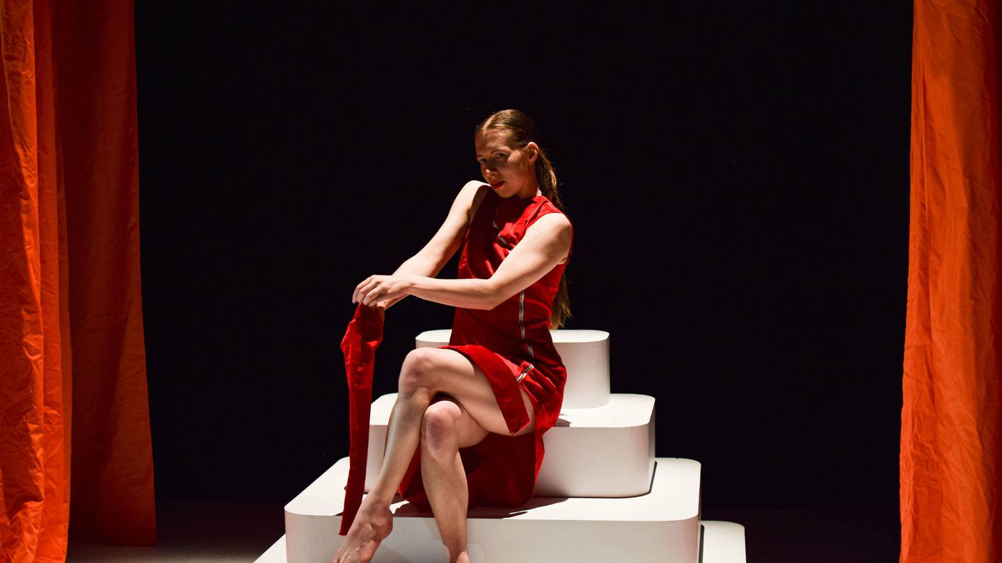 Rosie Tapsell in Dry Spell by Rose Philpott, part of Footnote Dance Company's latest production...