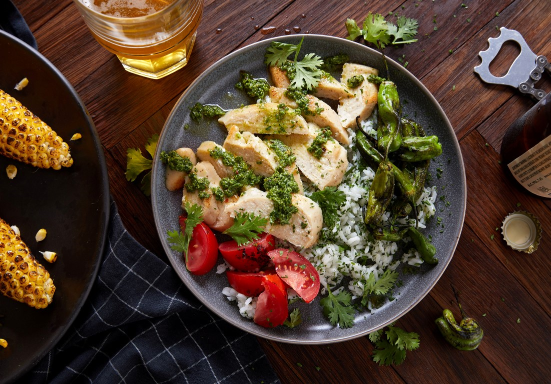A dish made with lab-grown cultured chicken developed by Eat Just. Photo: Eat Just, Inc./Handout...