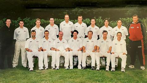 Crack Canterbury squad:- Back row: Brett Warman (manager/physio), Michael Papps, Brendon McCullum...