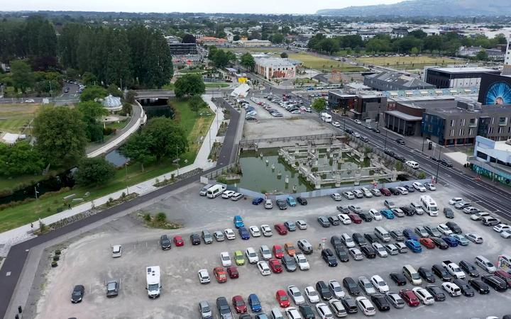 The site of the proposed new cathedral. Image: Catholic Diocese of Christchurch video