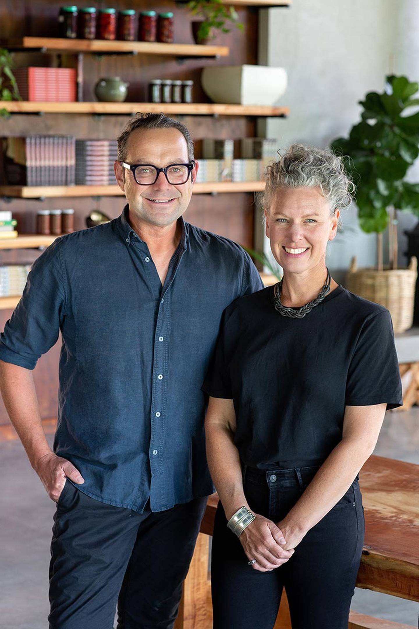 Michael and Bee Van de Elzen from the Good from Scratch cooking school. Photo: Supplied