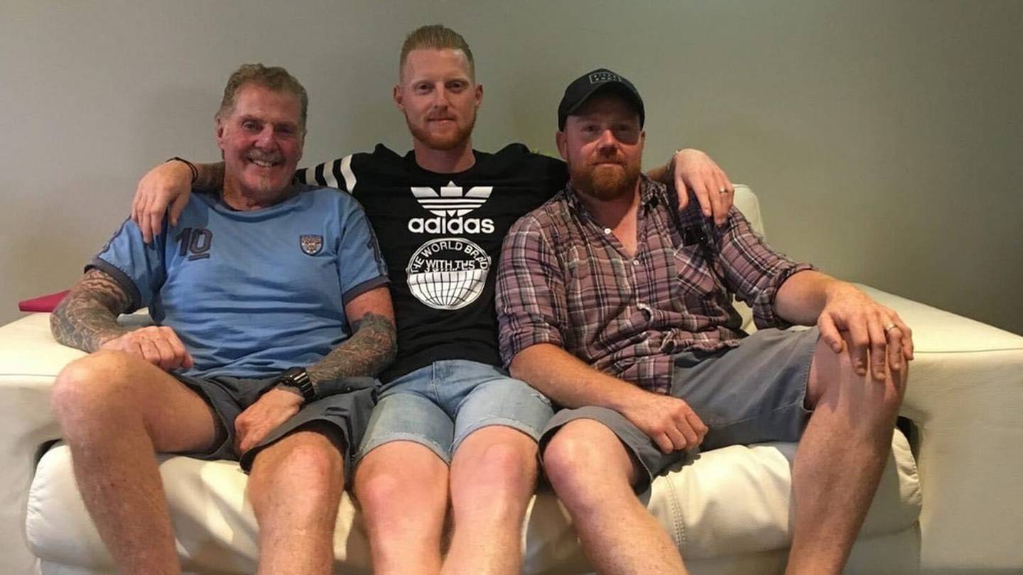 """Ged Stokes with sons Ben and James. Photo"""": Supplied"""