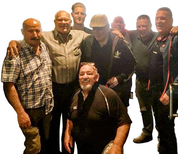 From left – Gerard Fahey, Frank Endacott, Ben Stokes, Ged Stokes, Michael Brereton, Jack Davis,...