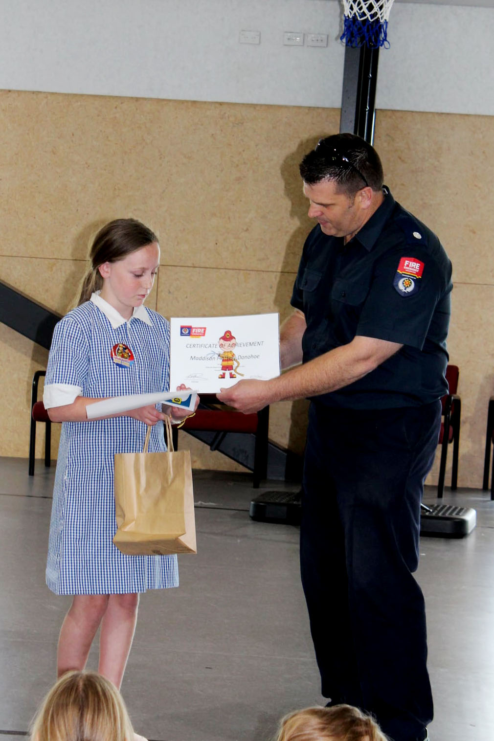 Maddy was visited by fire investigator Wayne Hamilton and other emergency services staff last...