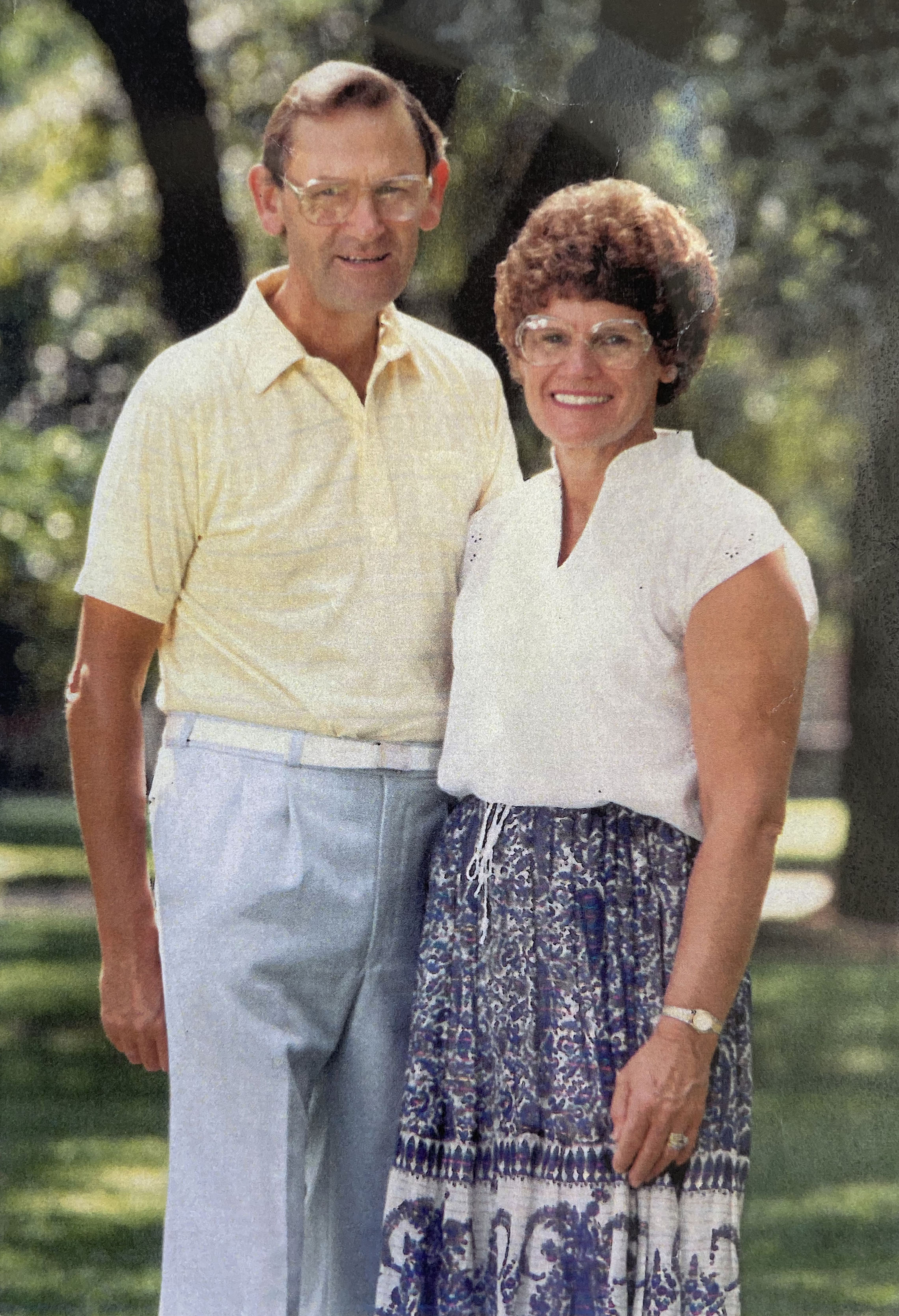Fred and Pearl Adams in 1988. Photo: Supplied