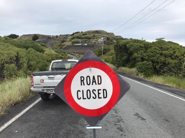 Blackhead Rd has been closed following the crash. Photo: Gregor Richardson