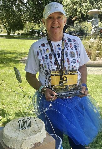 Christchurch distance runner Judy Brock completed her 100th - and final - marathon in Wanganui...