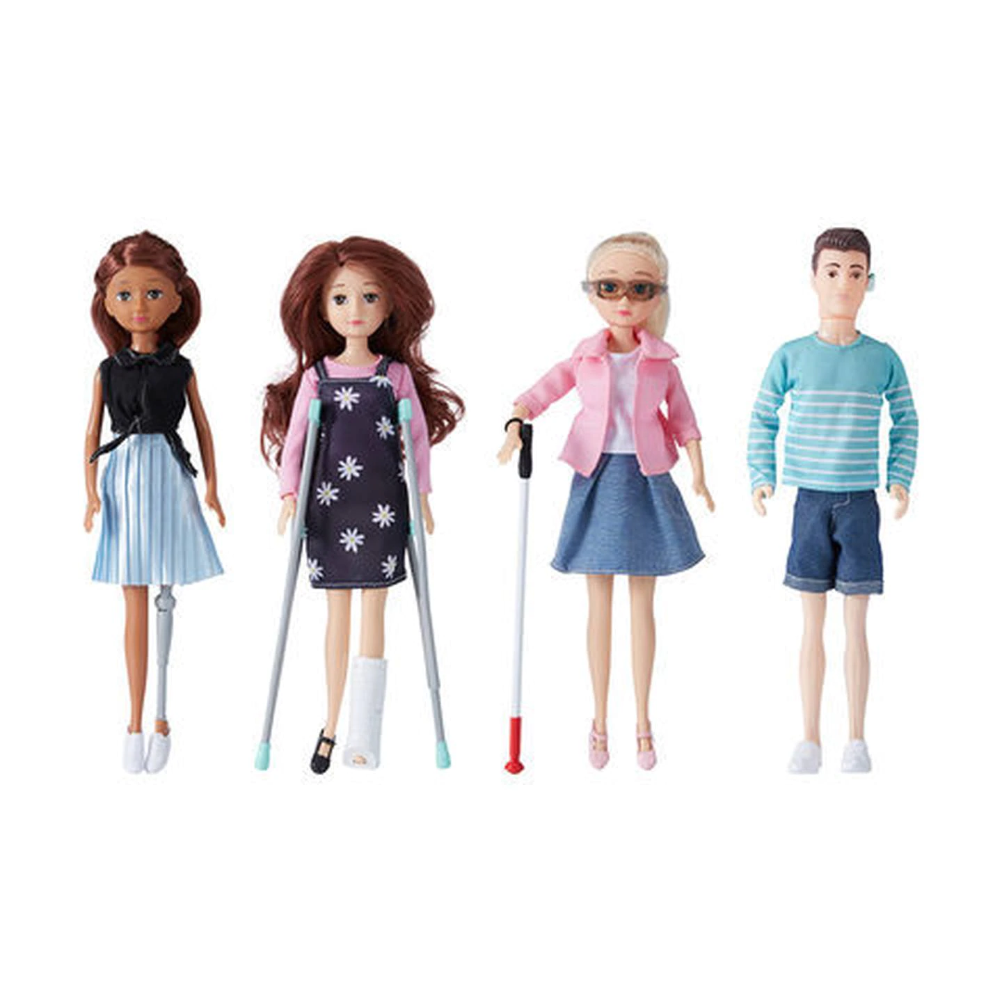 Kmart's new line of fashion dolls with disabilities how now grown. Photo: Kmart