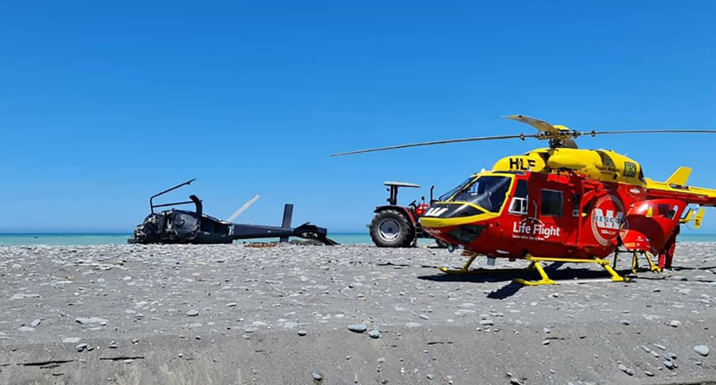 Three survivors of the crash were flown to Wellington Hospital for treatment. Photo: Supplied