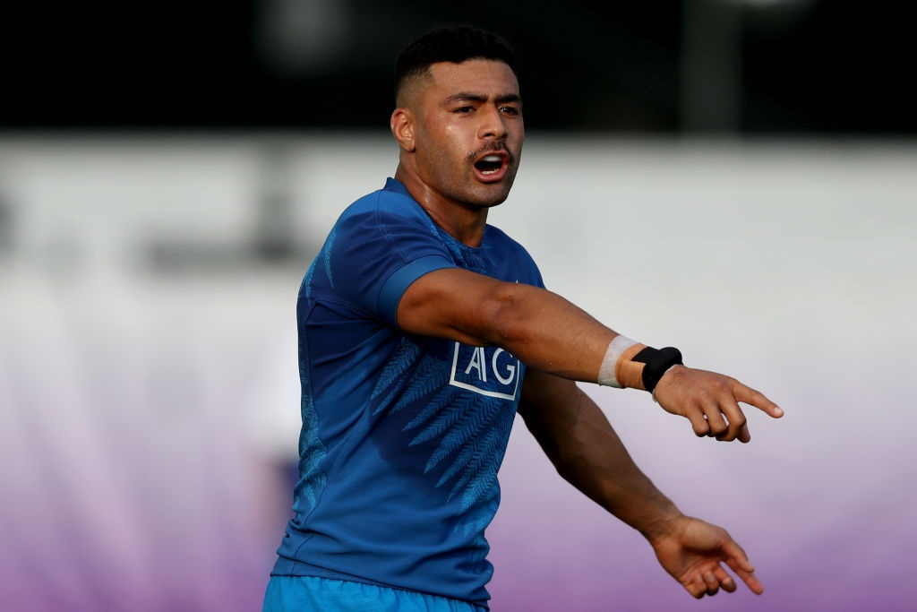 Richie Mo'unga at All Blacks training in Japan. Photo: Getty Images