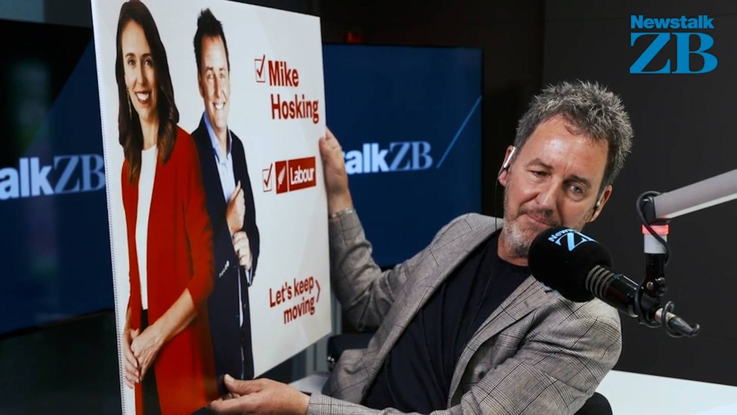 Jacinda Ardern has pranked Mike Hosking with a brilliant Christmas gift during their festive gift...