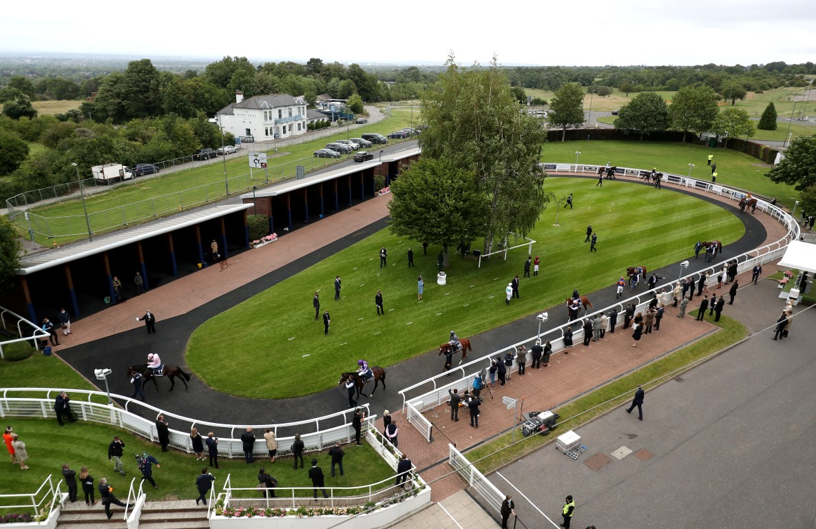 Epsom Downs Racecourse, one of seven large-scale vaccination centres in the UK. Photo: Reuters