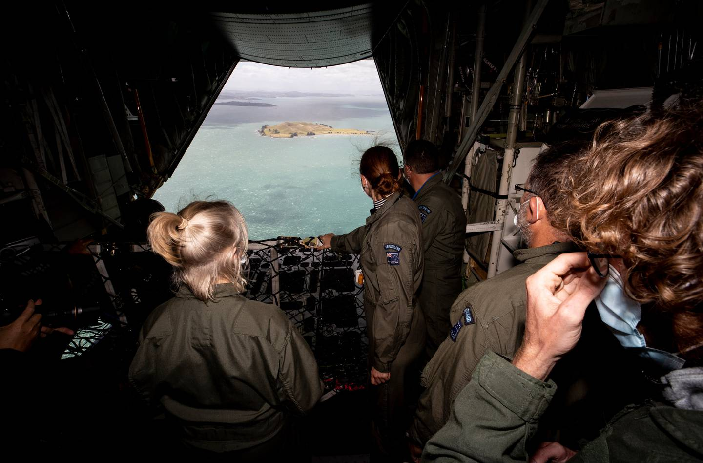 The teachers' search and rescue mission took them to a site at sea in the Hauraki Gulf. Photo:...