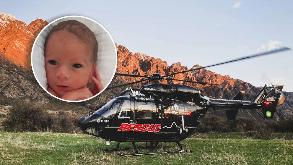 Kora Lord was born on board the Otago Rescue Helicopter. Photos: Supplied
