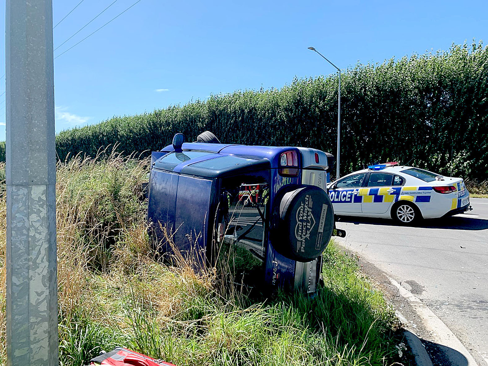 The driver of this car was taken to hospital after being hit by a motorist who allegedly failed...