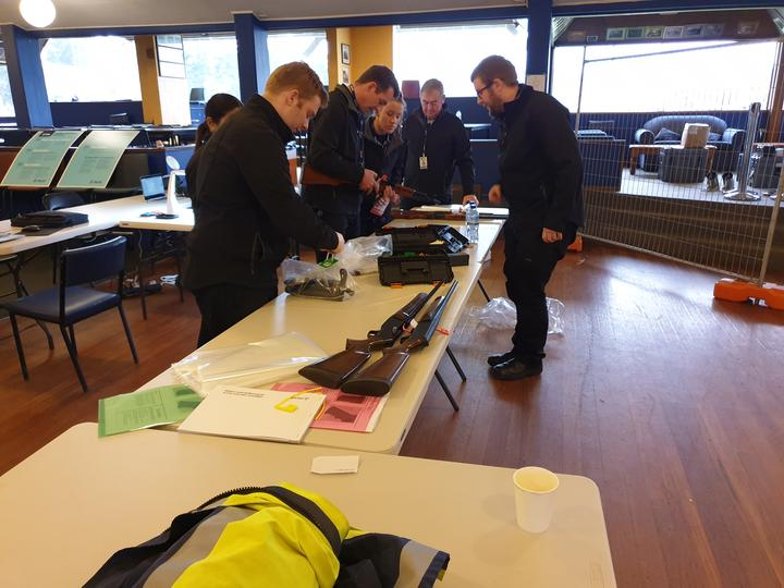 A gun buyback event in Taieri last year. Photo: RNZ / Tim Brown