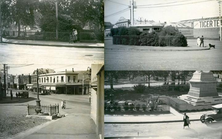 Dunedin toilets (clockwise from top left): the women's entrance in the Octagon; the Manor Place...