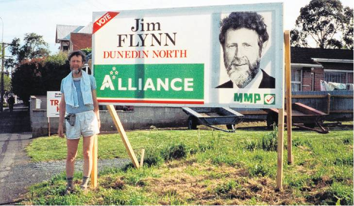 Prof Flynn also stood for the Alliance in Dunedin North. PHOTO: SUPPLIED