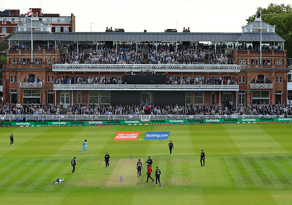 The Cricket World Cup 2019 final between New Zealand and England at Lord's. Photo: Getty Images